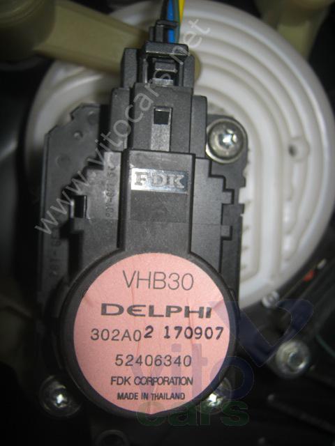 Моторчик заслонки печки Opel Astra H (с разборки) .
